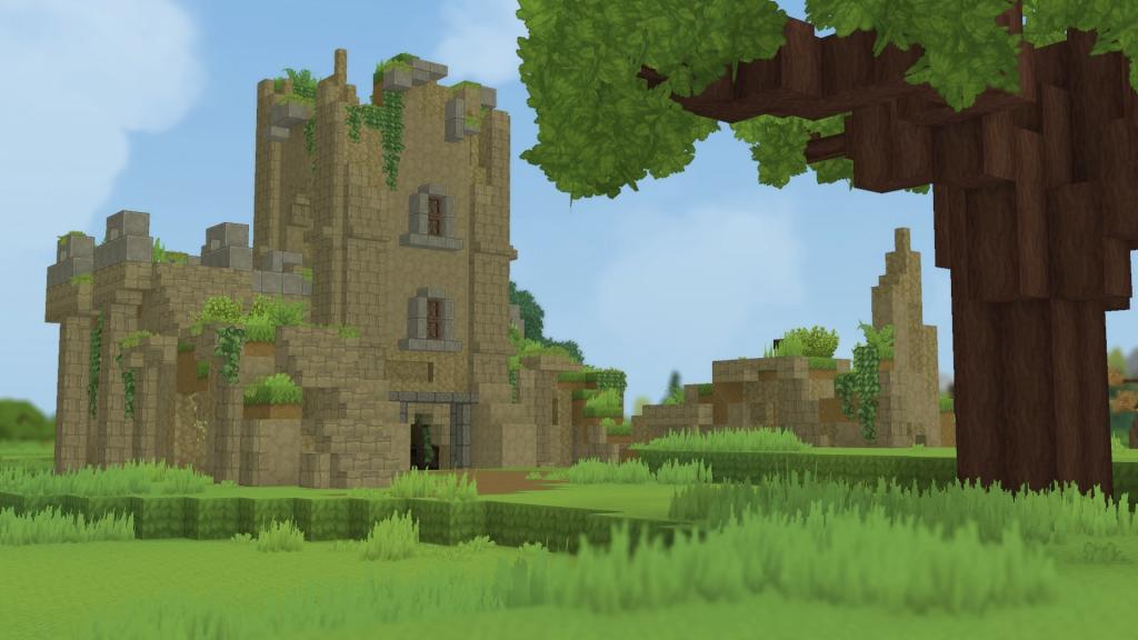 castillo hytale ruina bosque hytale