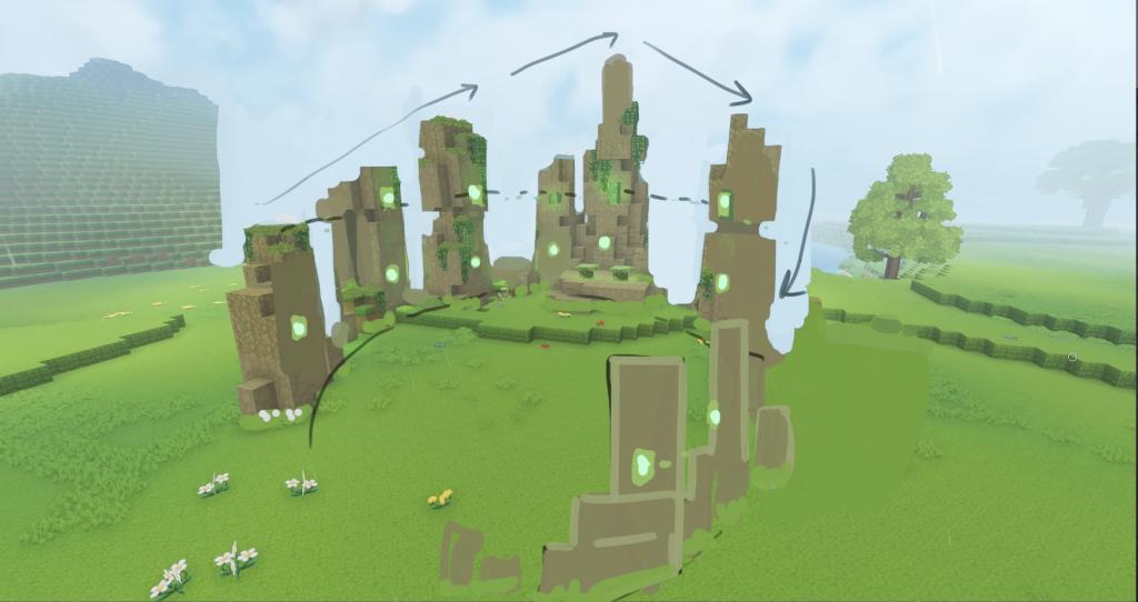 runas ruinas hytale cesped circulos elementales runas